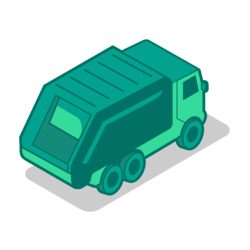 Waste Collection Truck Icon