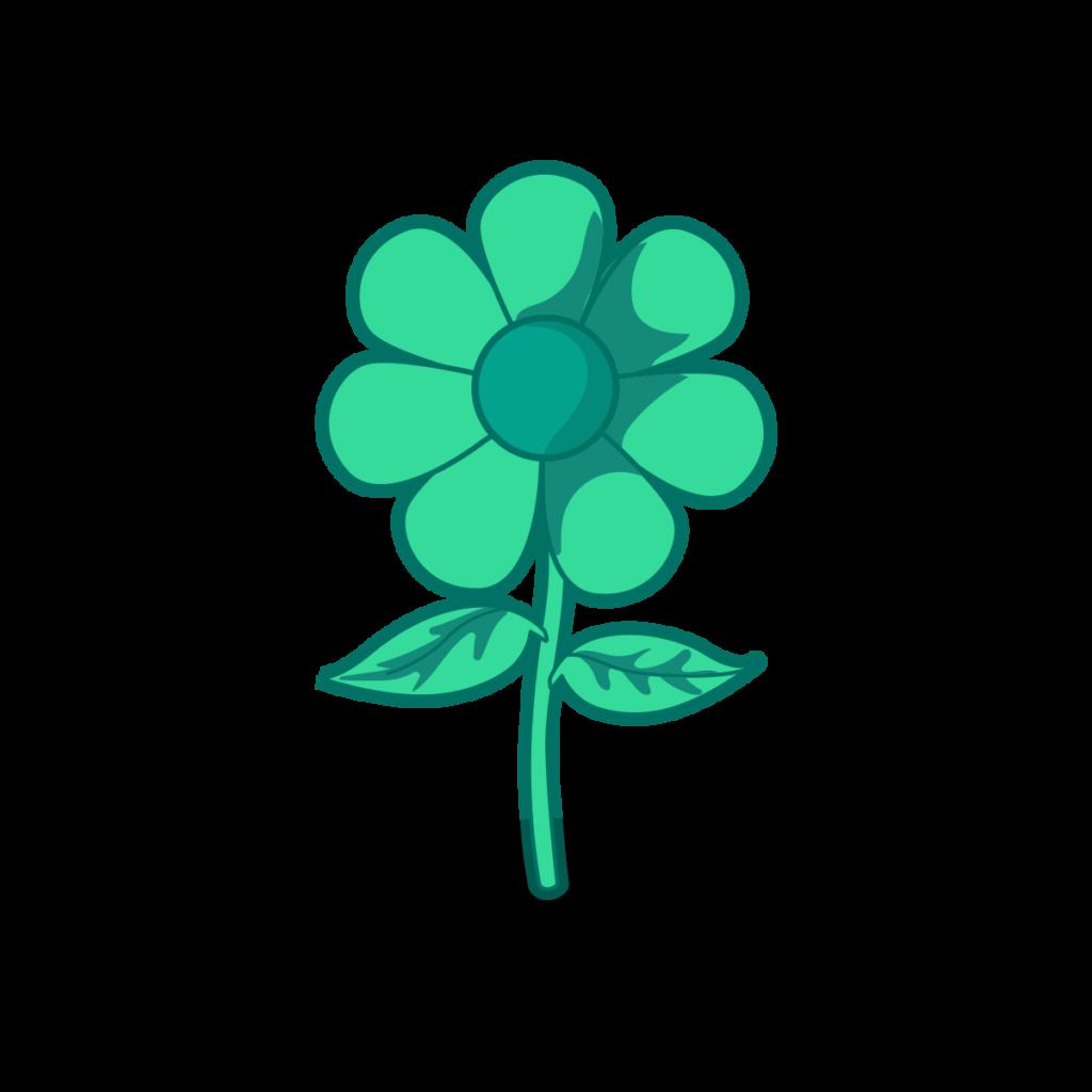 Green Flower Icon